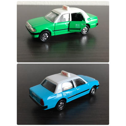 【香港☆的士】緑・新界 / 青・大嶼山ミニカー 2種類 /  Toyota CROWN COMFORT TAXI