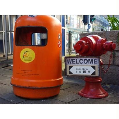 【香港☆垃圾筒】HK Rubbish Bin Sharpener   /  橙色のゴミ箱ミニチュア鉛筆削り