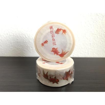<矾红彩鱼纹>和紙紙膠帶【國立故宮博物院 】 マスキングテープ
