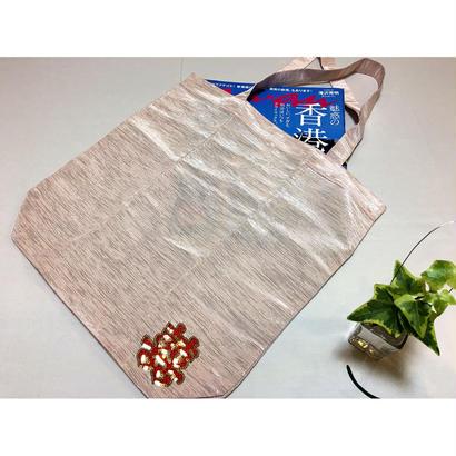 <祝>【香港☆囍】上品な光沢布のサブバッグ / ダブルハピネス