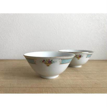 【香港☆中国制造】藍梅碗・茶杯・ボウル   /  お使いの碗を変えてみませんか?