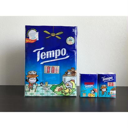 【香港☆Tempo】 使い捨てハンカチ「飲茶柄」(ティッシュ)36pcs / 1パック