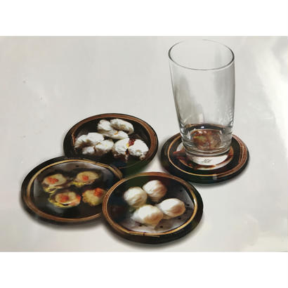 【香港☆G.O.D.】DIM SUM coaster set of 4  /  點心コースター4枚=1set