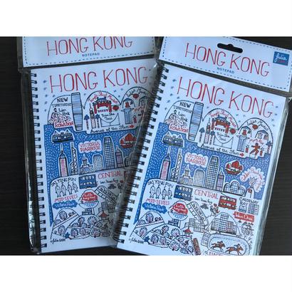 【香港☆JULIA GASH】紅白藍色 香港柄ノート / TALENTED HK・NOTEPAD BOOK