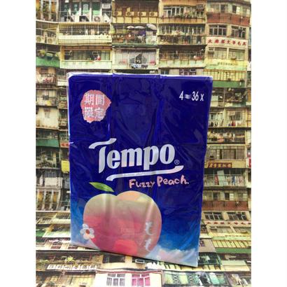 【香港☆Tempo】 使い捨てハンカチ「桃」「ジャスミン」(ティッシュ)36pcs / 1パック
