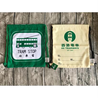 【香港☆電車】トラム・叮叮  / 巾着型リュック2種類