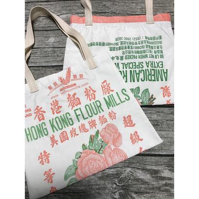 ☆Handmade☆【香港麵粉厰】  お洒落なTOTE BAG横型 No.12182  /  HONG KONG FLOUR MILLS