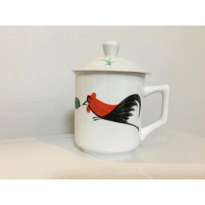【香港☆ 雞 食器】 蓋付マグカップ /  茶杯