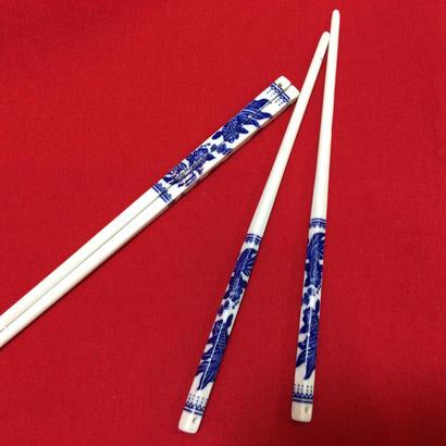 【香港☆金魚柄】藍色 お箸・取り箸  / デイリーユースのお揃い食器