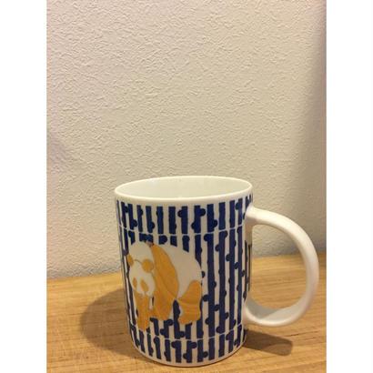 【香港☆GLUE】黄金パンダ柄のマグカップ  /  プレゼントに最適!