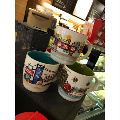 【香港☆星巴克】STARBUCKS  BIGMUGCUP(マグカップ)/ 中環と油麻地の2種類