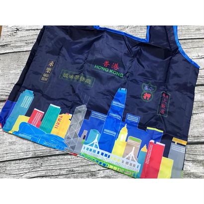 【香港☆Passage】<霓虹>香港特色環保袋・ECO BAG / 収納便利な一体型