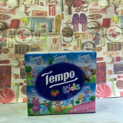 【香港☆Tempo/kids】 使い捨てハンカチ「香り付き」(ティッシュ)12pcs / 1パック