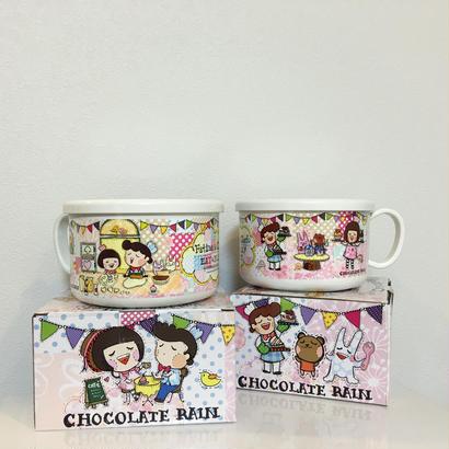 【香港☆Chocolate Rain】 Fatina & Chefo / 蓋・持ち手付き保存容器