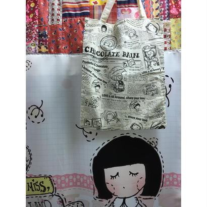 <4周年感謝商品>【香港☆Chocolate Rain】 Fatina / サブバッグ Happy Joumal Newspaper