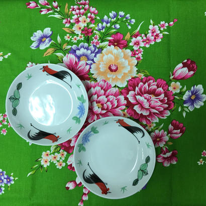 【香港☆ 雞 食器】  皿(小) /  2枚=1set