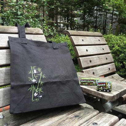 <SALE>【香港☆Panda】トートバッグたっぷり入ります/ 刺繍パンダ