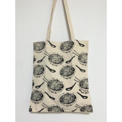 【香港☆GLUE】麵好きな方に! tote bag  /  使い勝手の良い大きさです