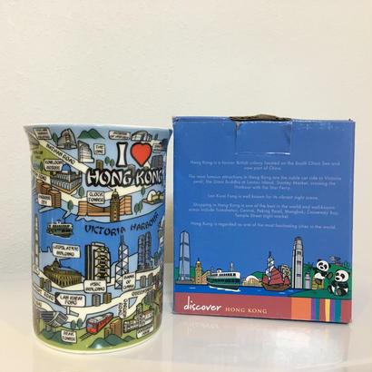 【discover☆HONGKONG】香港柄のマグカップ  /  地図イラスト のSlim Mug