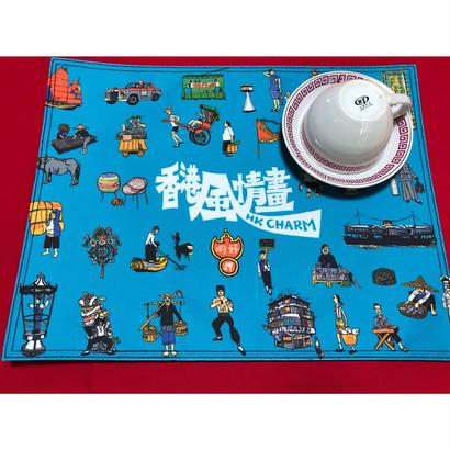 【香港☆G.O.D.】KAWAII♡ランチョンマット /  春の食卓にブルーカラーを!