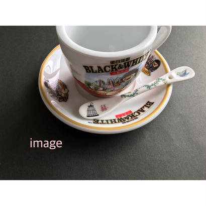☆Handmade☆【香港・Studio COCORO】鳥・鳥かご・ティータイム柄のティースプーン /  HK-Porcelarts-907