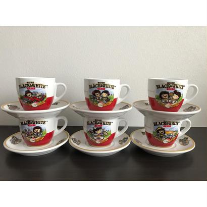 【香港☆茶餐廳食器】黑白淡奶「BLACK&WHITE ×Chocolate Rain」6種類 Cup & Saucer