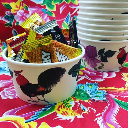 【香港☆ 雞 紙食器】 CHICKEN paper bowl /  お菓子入れたり多目的使用に!