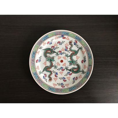 【香港☆中国景徳鎮】(白)龍柄の綺麗な色の皿 / 取り皿としても