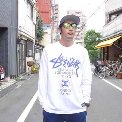 【SKREWZONE】WORLD TOUR LONG TEE