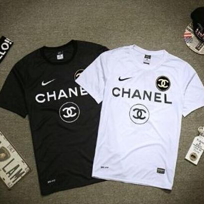 送料無料 数量限定 人気 ナイキ×シャネルコラボ Tシャツ CHANEL × NIKE COCO5 Tシャツ シャネル メンズ レディース 男女兼可