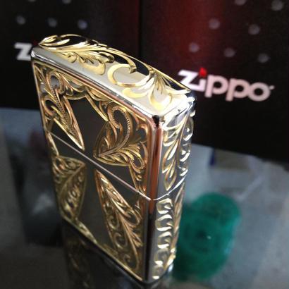 Mauloa Honolulu/メイドインUSA(片面+3面サイド手彫り)Zippoライタステンレススチールクロース