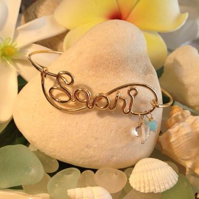Love & Nature Hawaii /14K Gf カスタムオーダーネームブレスレット/チャーム2個付き