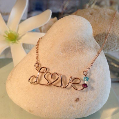 Love & Nature Hawaii/ 14K gf カスタム オーダーネームネックレス