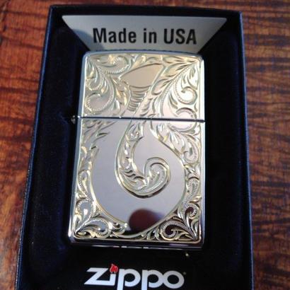 Mauloa Honolulu/メイドインUSA(片面のみ手彫り)Zippoライタステンレススチールフィッシュフック