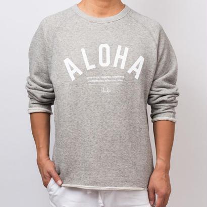 ISLANDER/アイランダー 『 ALOHA 』 カットオフクールネックスウェット