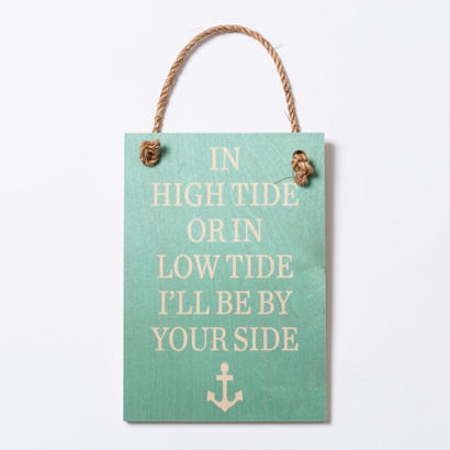 SoHa LIVING/High Tide メッセージロゴプレート看板