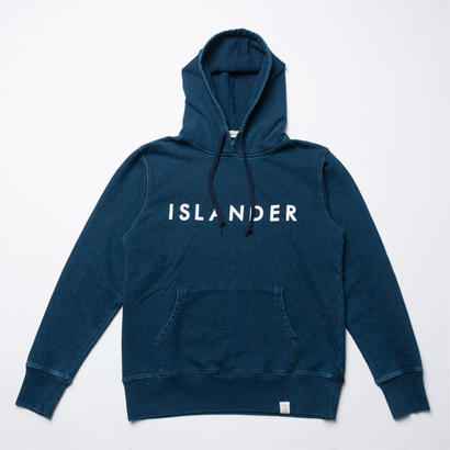 ISLANDER/アイランダー ロゴスウェット/プルオーバーインディゴパーカー