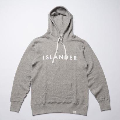 ISLANDER/アイランダー ロゴスウェットプルオーバーパーカー/ヴィンテージヘザー