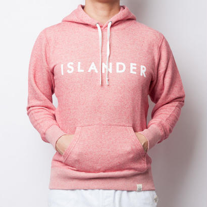 ISLANDER/アイランダー ロゴスウェットプルオーバーパーカー/ヴィンテージヘザーレッド