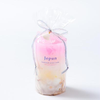 Jepun(ジュプン)シェル入りアロマキャンドルMサイズ/ピンクイエロー