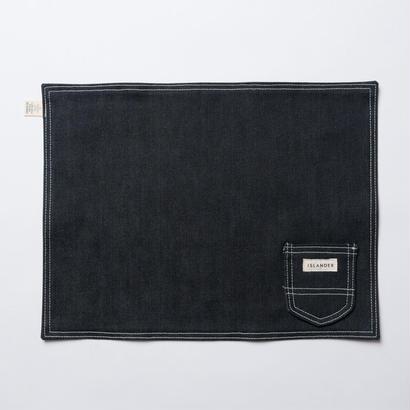 ISLANDER(アイランダー)オリジナルデニムランチョンマット/プレイスマット(ブラック)