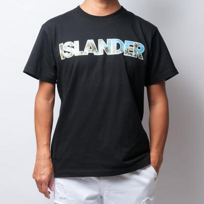 ISLANDER/アイランダー PALM TREE PHOTO Tシャツ/ブラック