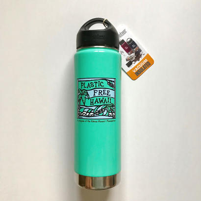 Heather Brown (ヘザーブラウン)× Plastic Free Hawaii Klean Kanteen 20oz(592ml) Insulated Turquoise Bottle