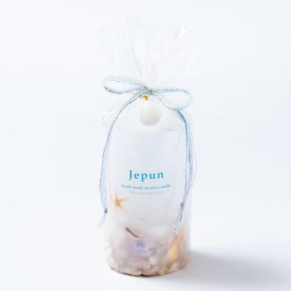 Jepun(ジュプン)シェル入りアロマキャンドルMサイズ/ホワイト