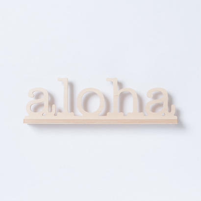 SoHa LIVING/Aloha Natural Birch Plaque  メッセージロゴウッドスタンド/M