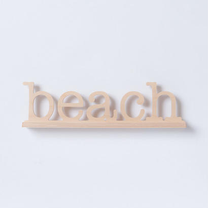SoHa LIVING/Beach Natural Birch Plaque  メッセージロゴウッドスタンド/M