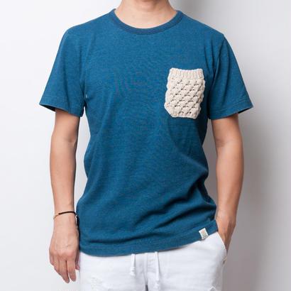 ISLANDER/アイランダー インディゴ染めポケットTシャツ(インディゴブルー)