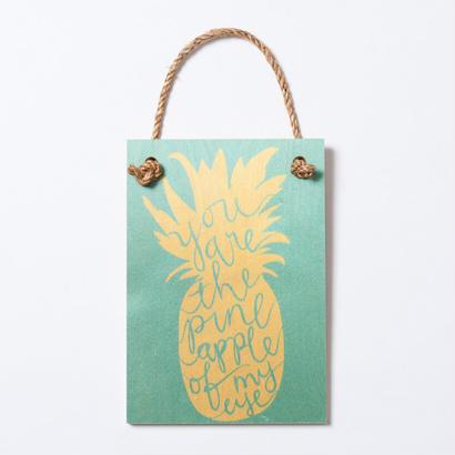 SoHa LIVING/Pineapple Of My Eye メッセージロゴプレート看板