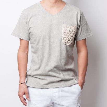 ISLANDER/アイランダー オリジナルVネックポケットTシャツ(グレー)