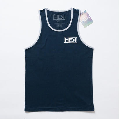 HE>i(ヒー)タンクトップ BADGE TANK(ネイビー)S